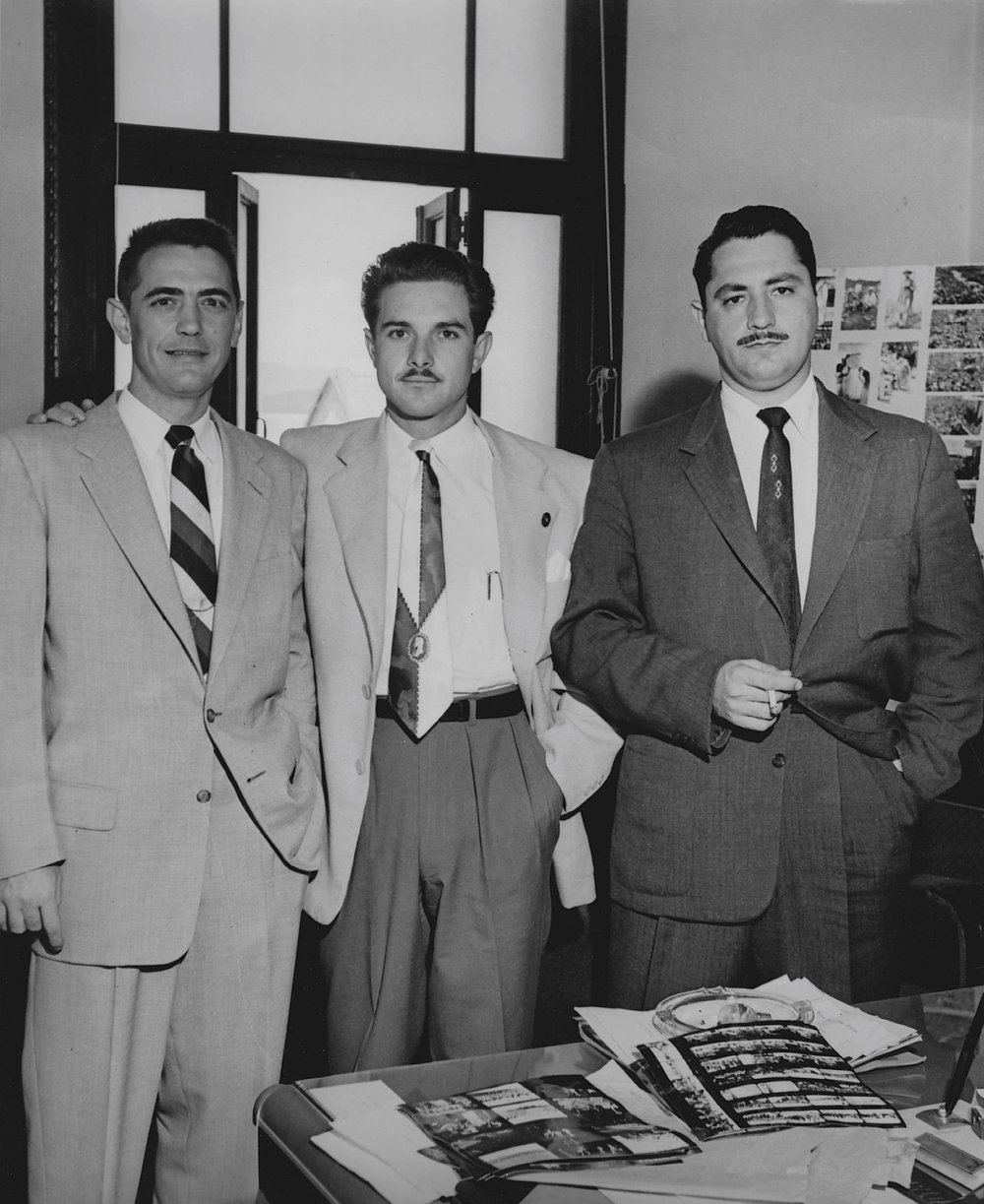 CIA agents (including my grandfather, John, left) in Guatemala, 1954