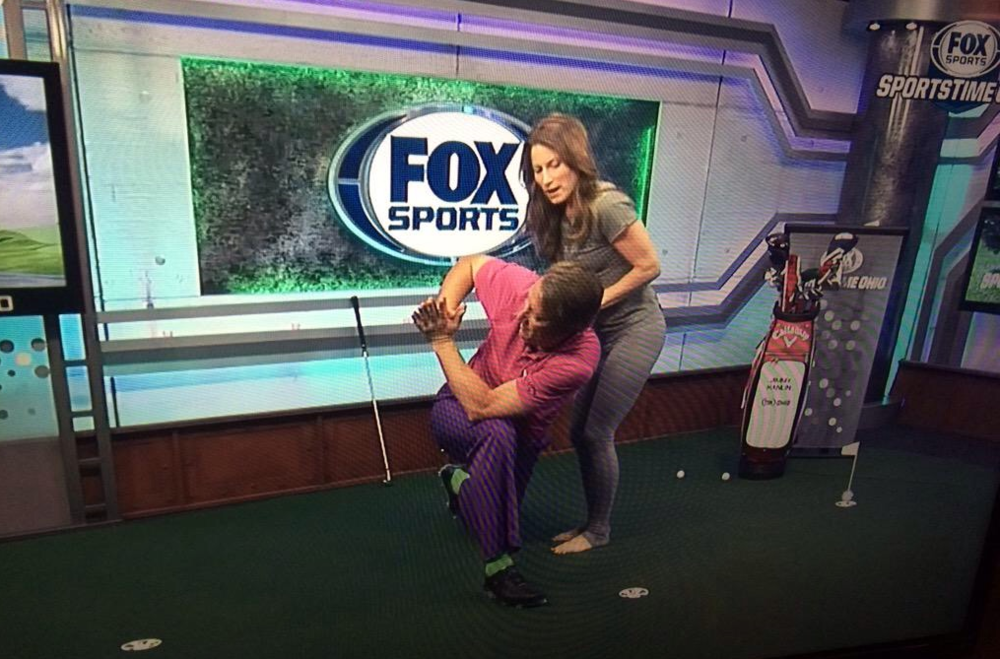 Meghan taught Jimmy how to optimize his prayer twist and talked about how yoga helps golfers.
