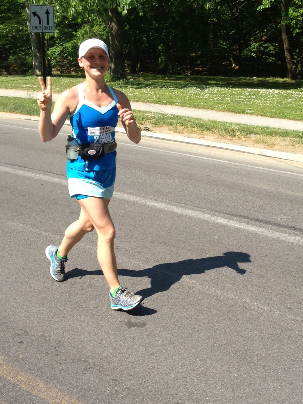 Jen during the Cleveland Marathon, 2013