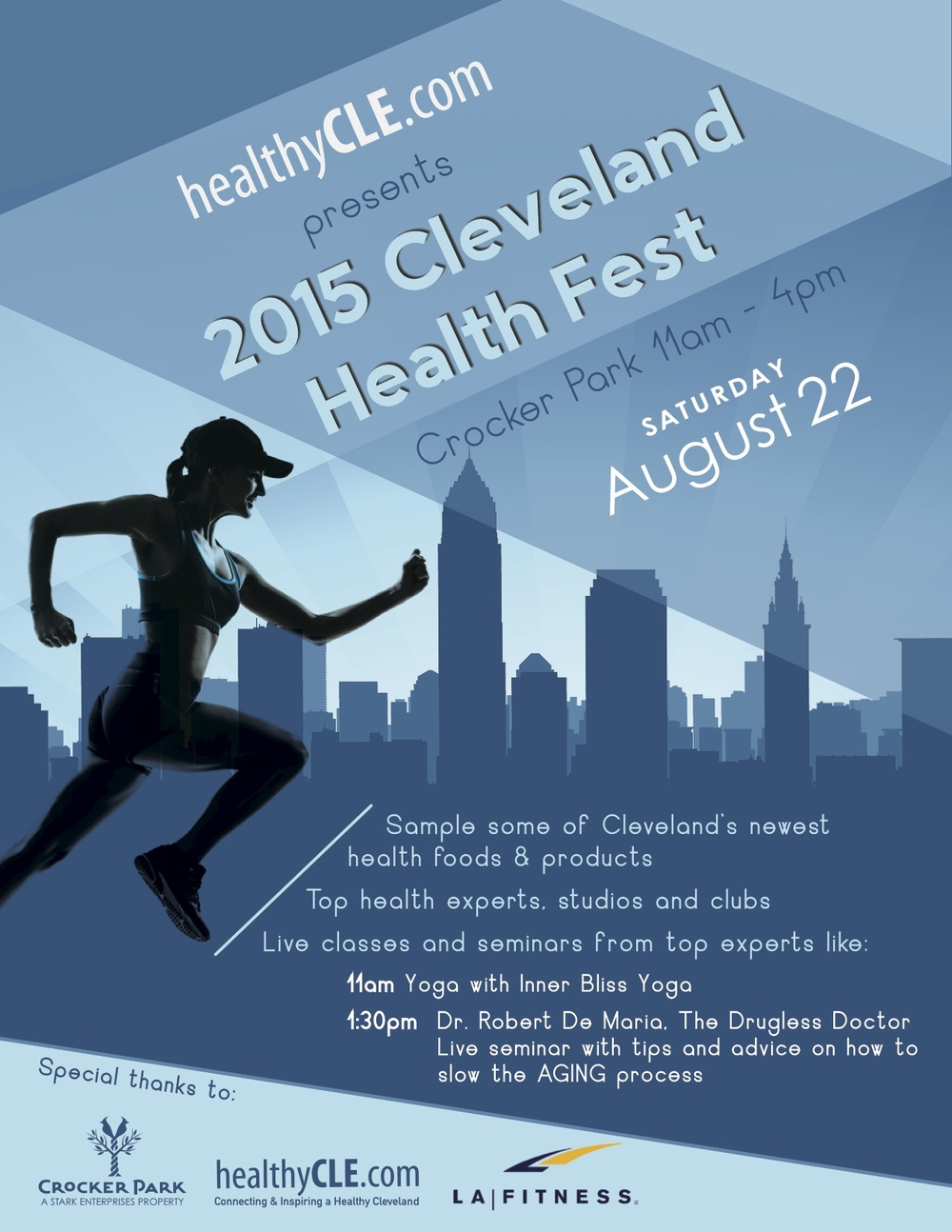 Register below for free yoga at CLE Health Fest