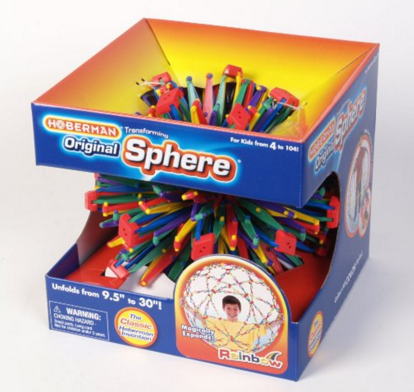A fun 'breath illustrator' for kids, the original Hoberman Sphere can be purchased from Amazon.com