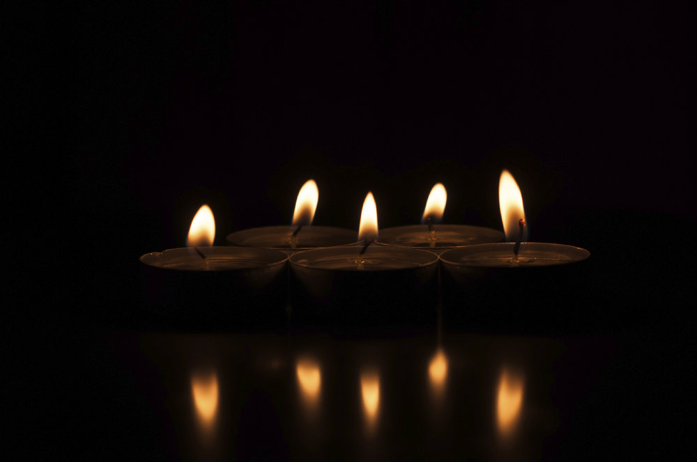 The entire Restorative Yin practice is supported by candle light, a musical