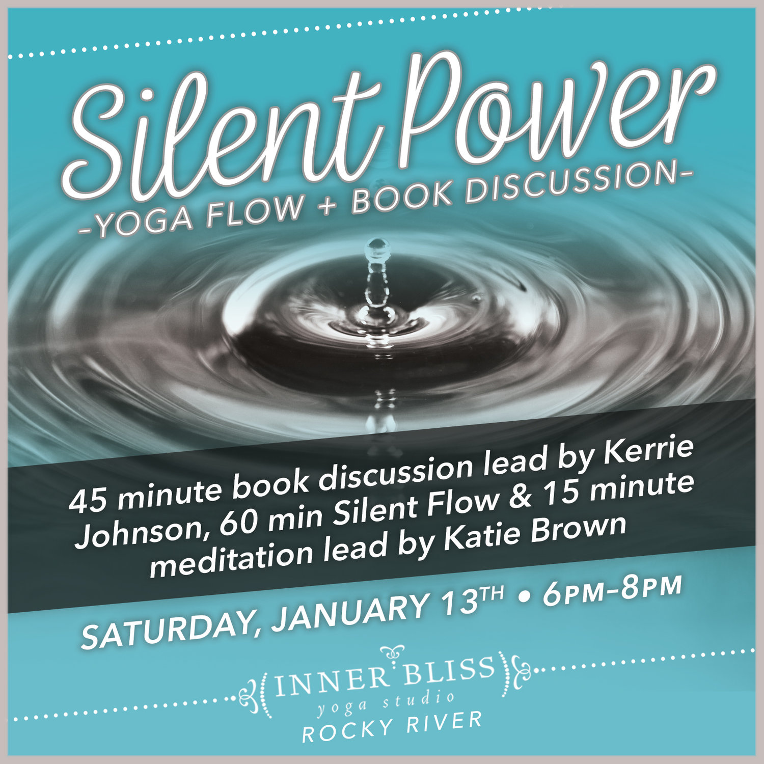 Silent Power Yoga Flow And Book Discussion Inner Bliss Yoga Studio