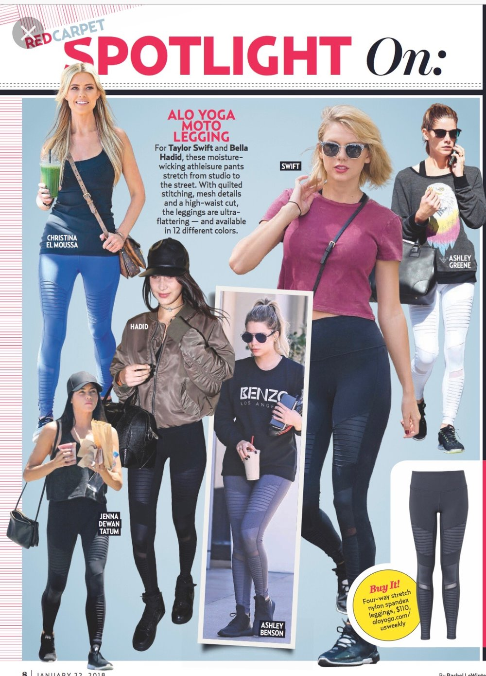 Alo High-Waist Moto Legging a s seen in US Weekly!
