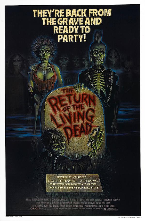"Hungry for brains? Get your fix by watching ""Return of the Living Dead"" now!"