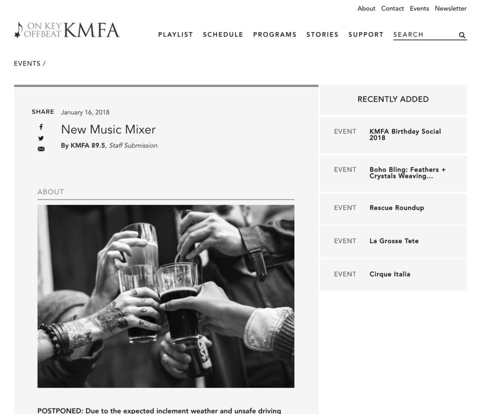 FOR KMFA 89.5FM