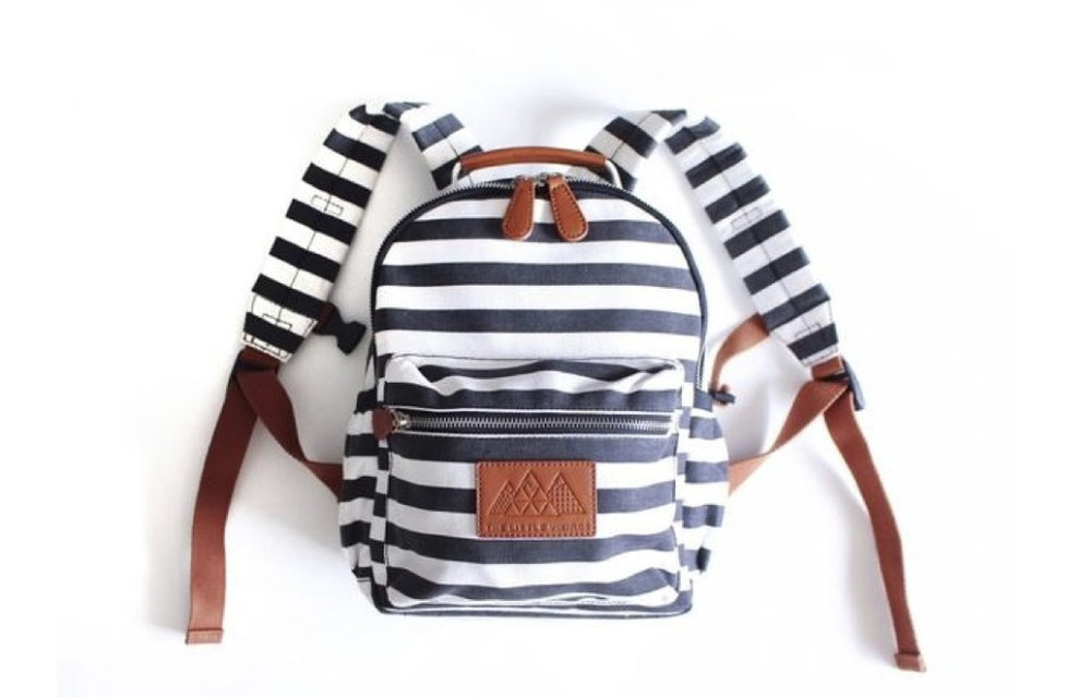 The Little Vikings  / For the Love of Stripes Backpack Mini / $65