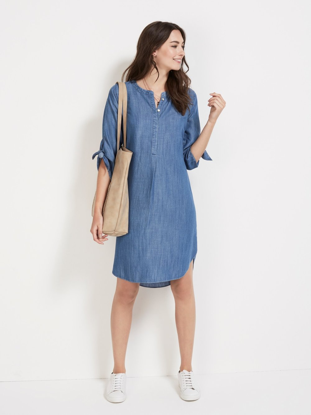 Sussan  / Chambray Tie Sleeve Dress / $149.95