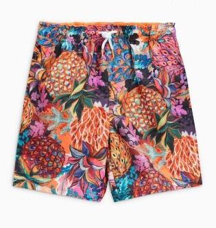 Next - Multi Pineapple Print Boardies, $15.50-$21