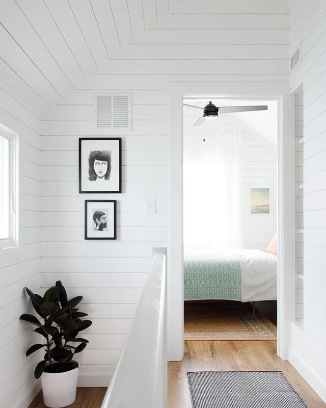 """Upstairs at the bright, beautiful """"big"""" tiny house by @teamharrisonbailey"""
