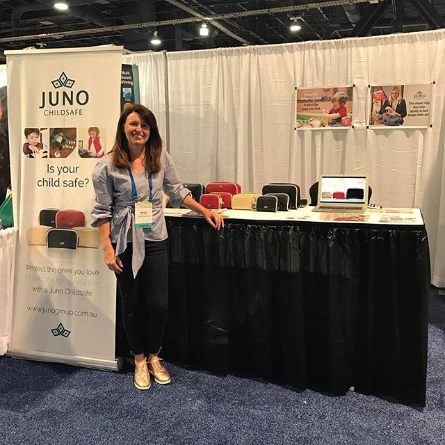 ABC Kids Expo is go! #junochildsafe #abckidsexpo17 #onthego