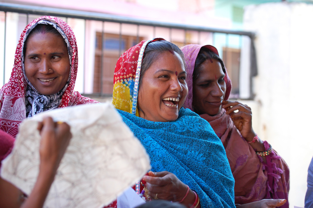Anchal Artisans enjoying the creative process
