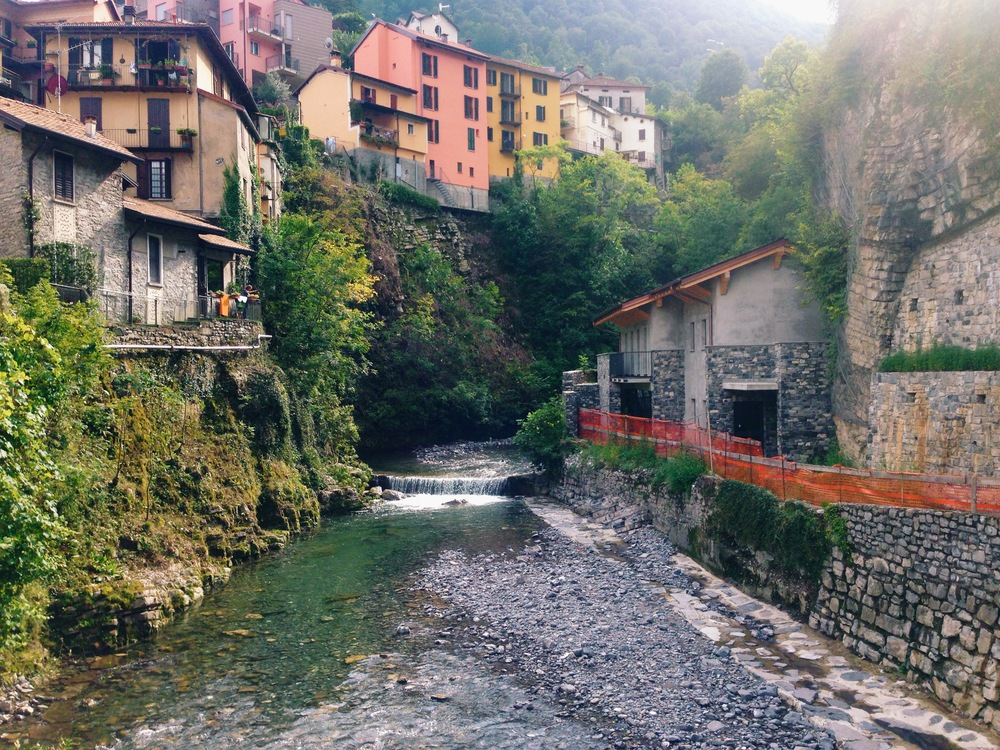 the lovely river Telo running down from the mountains to Argengo.