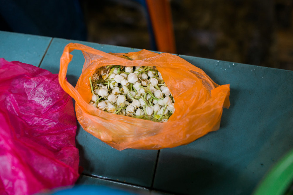 A bag of Jasmine near Batu Caves.