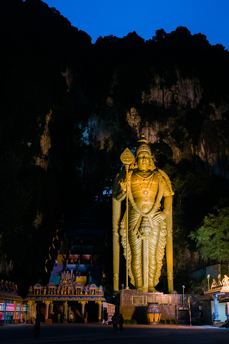 Batu Caves in the pre-dawn light by Kuala Lumpur Photographer Erica Knecht