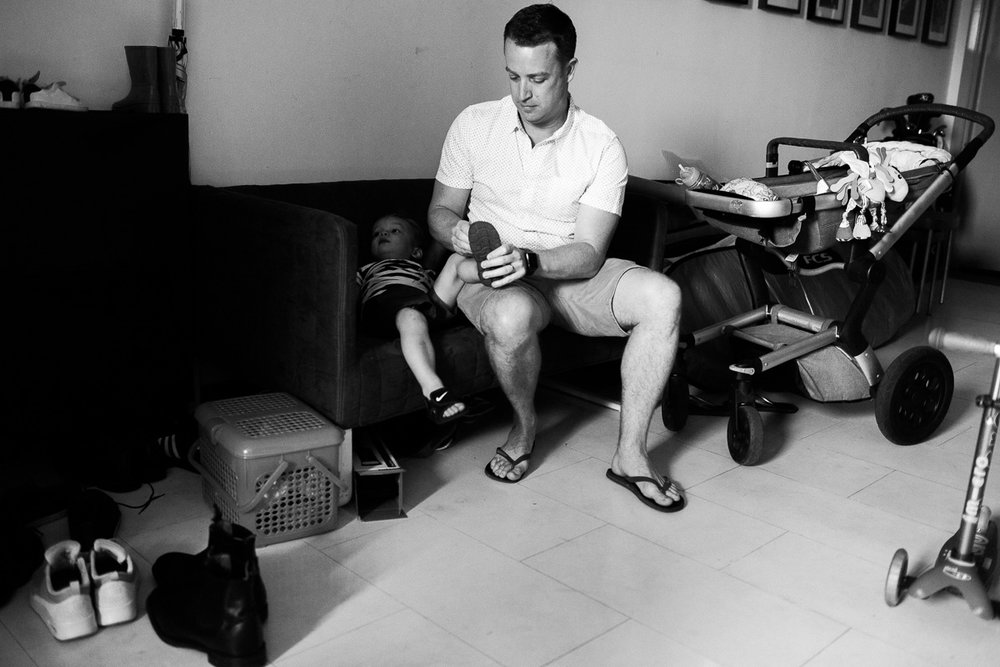 Kuala Lumpur based photographer Erica Knecht captures a young family as they prepare to go to the park.