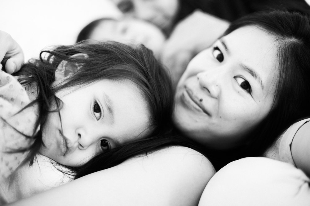 A portrait of mother and daughter as shot by Kuala Lumpur based photographer Erica Knecht