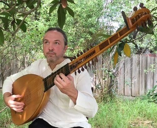 Andrew Byrne with Theorbo