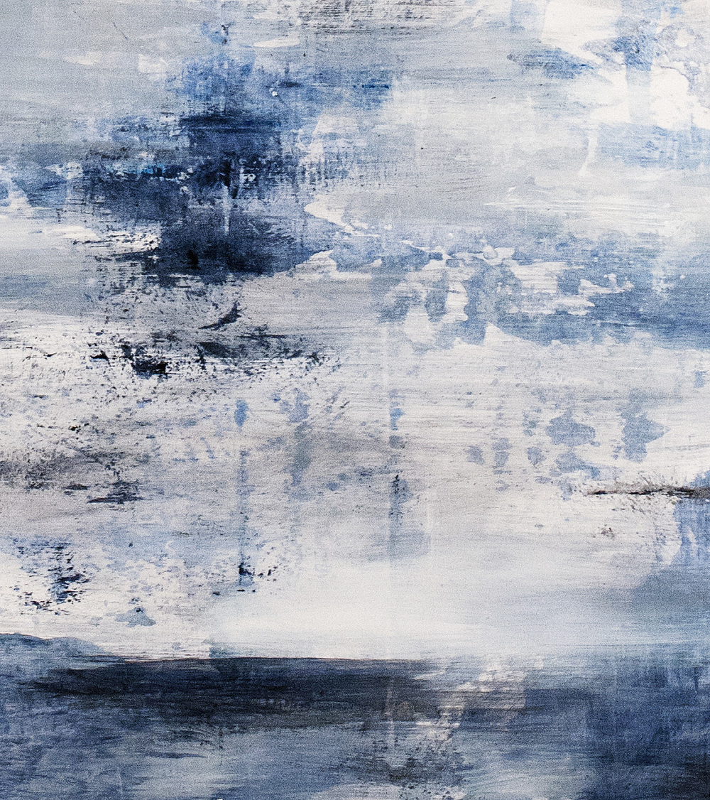 Blue Gray (detail), oil on panel, 2014