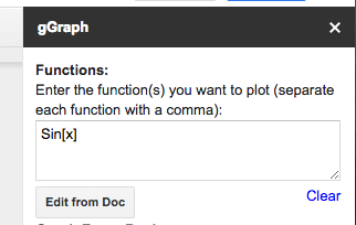 Enter a function
