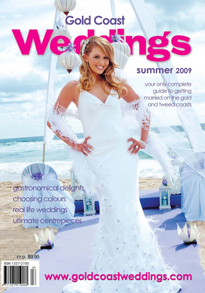 Gold Coast Weddings Magazine Cover, Summer 2009