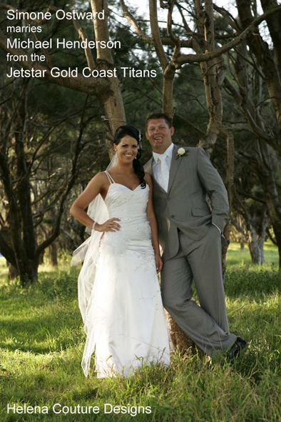 Simone Ostward marries Michael Henderson from the Jetstar Gold Coast Titans, 24th October 2009