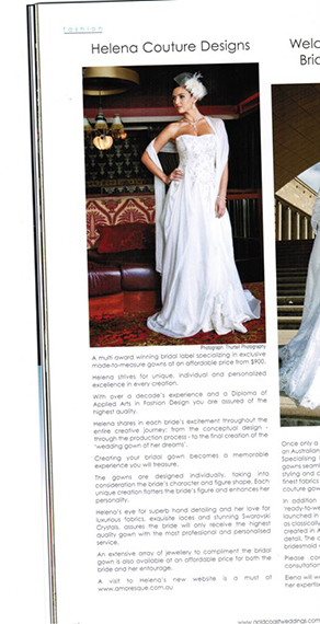 Gold Coast Wedding Magazine, Winter 2012