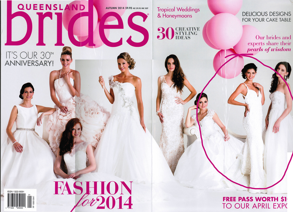 QLD Brides Magazine Autumn 2014   A special thank you to Shannon, who is pictured below on her wedding day.  You are such a wonderful person with such a big heart and a passion for life.  I loved all the time we spent together during your fittings, but then having you model for me twice was an added pleasure.  xx