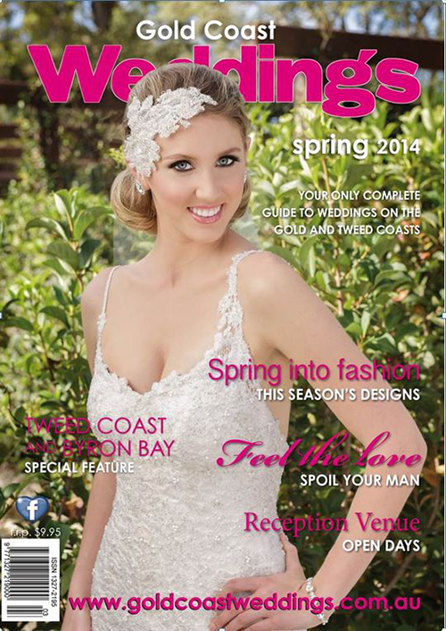 Gold Coast Wedding Magazine Spring 2014 Front Cover!