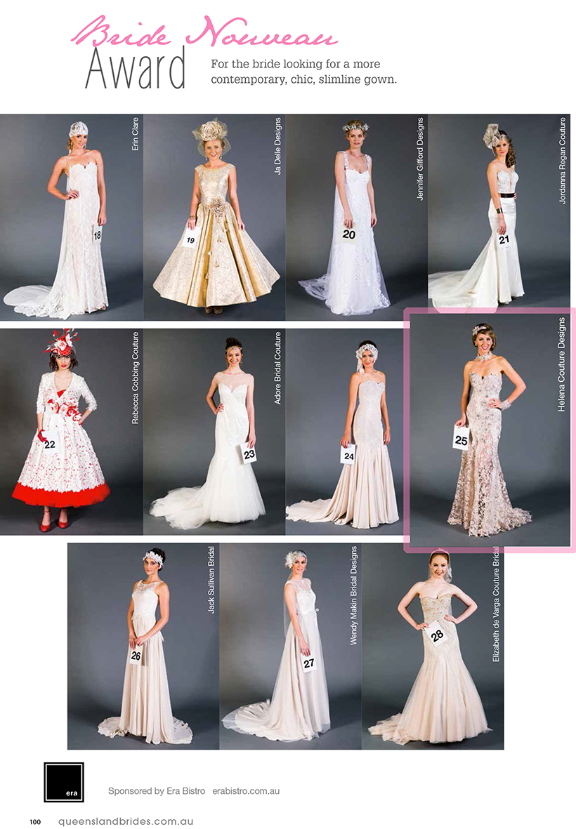 2014 QLD Brides Design Awardq - Helena Couture Designs - Australian Multi Award Winning Bridal Label