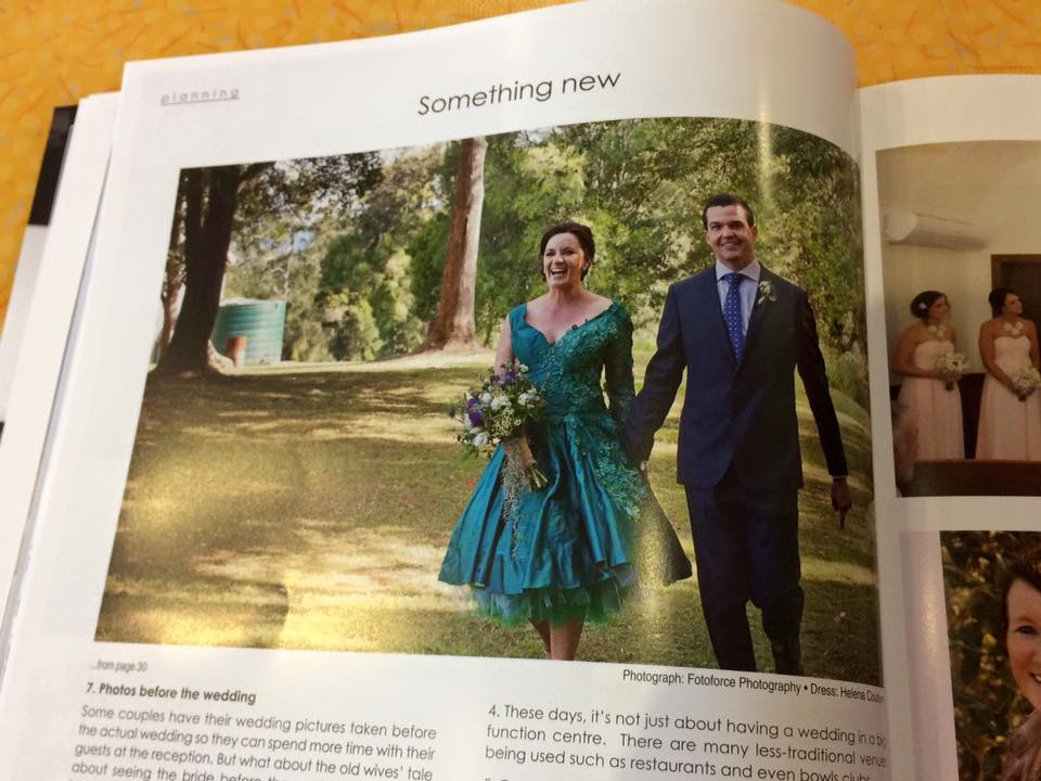 And here they are in Gold Coast Wedding Magazine Summer 2051/2016 edition.