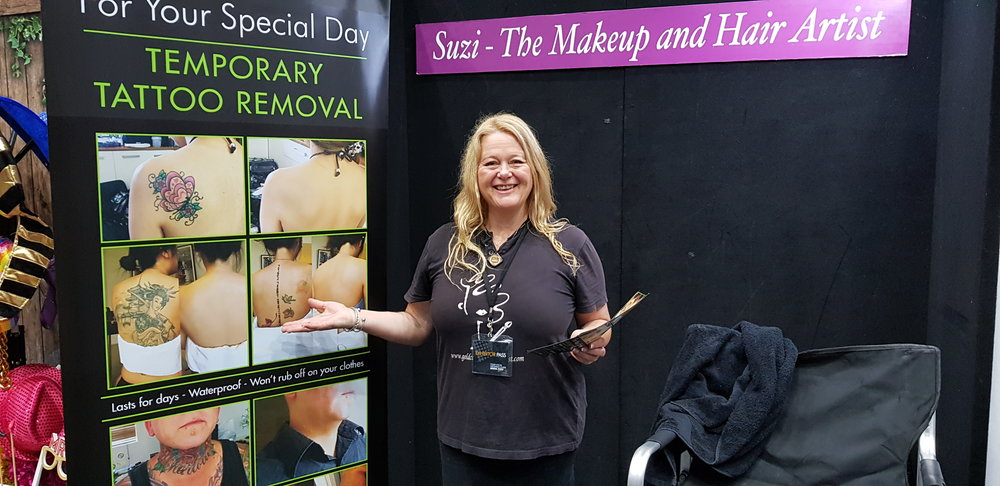 Suzie Dent Hair and Makeup Artist - She can completely remove your tattoo on your big day.