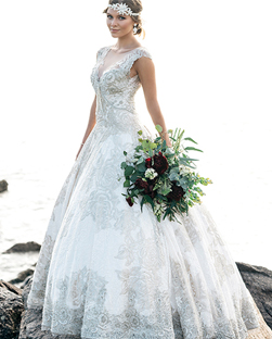 Classical Bridal Gown - Traditional bespoke bridal designs featuring full skirts, similar to the typical fairy tale ball gowns you grew up listening to as a child.