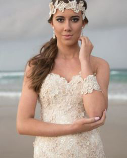 ModernWedding Dress - Contemporary, new-age couture designs, featuring chic details ideal for beach, garden or second wedding.