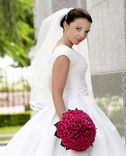 Real Brides - Select images of brides who were married before 2010, wearing Helena Couture Designs.