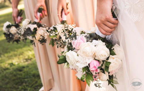 The foliage from Emunah Events were a perfect match to the dresses and the shoot.