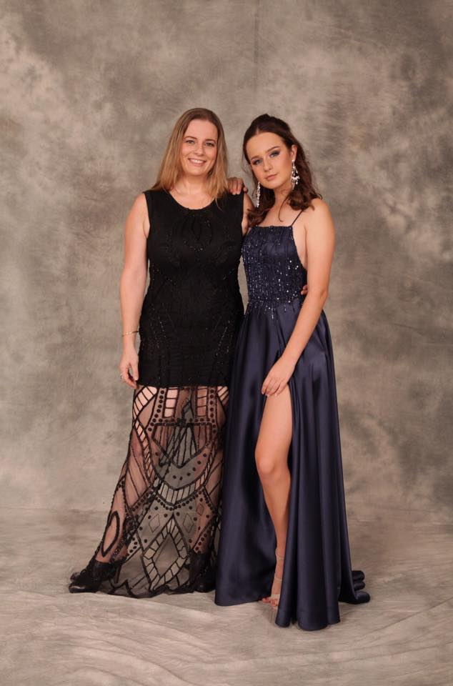 Mother and daughter duo. Dresses:  Helena Couture Designs