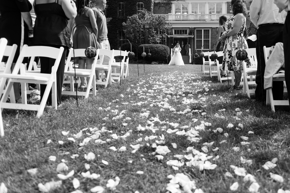 bride walking aisle