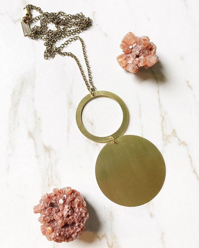 The double circle statement necklace is super lightweight and one of my favorites! I'm planning on making some more statement necklace designs in the near future, too 😉. . . . . . #geometricjewelry #modernjewelry #bohoismyjam #makersmovement  #minimalstyle #flatlayforever #scandistyle #thatsdarling #supportthemakers #indigofair #wholesalejewelry #womanowned #makersgonnamake #artdeco #statementnecklace #shopsmallbusiness #bohochicjewelry #boutiqueshopping #supportsmallbusiness #womanownedbusiness #bohobride #minimalstyledaily #loveandlight #bohostyle #bohofashion #jewelryaddict #boutiquejewelry #jewelryoftheday #bohemianmodern #shopstockabl