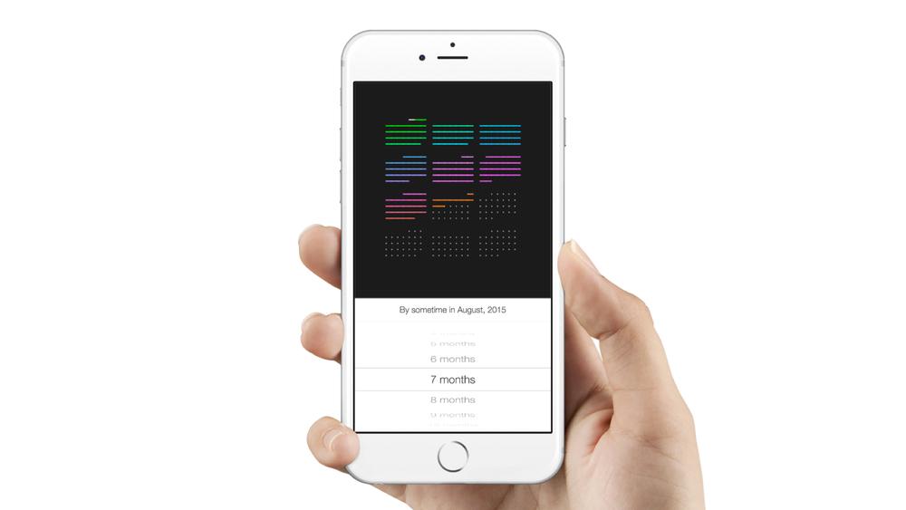 Rainbow Cal: iOS picker recreated in Framer