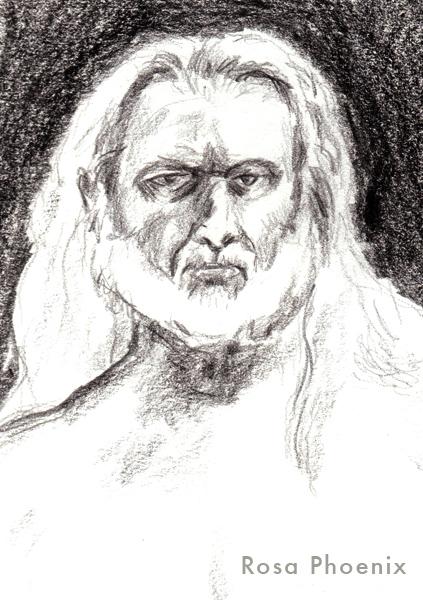 """""""Zeus"""" crayon sketch by Rosa Phoenix"""