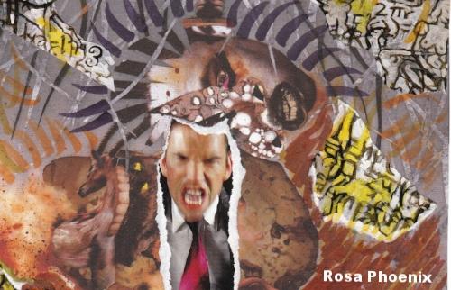 """Danger"" collage (detail) by Rosa Phoenix"
