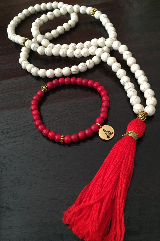 Howlite Mala & Bracelet
