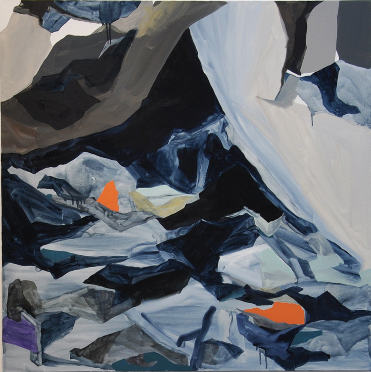 Untitled (Ranges), Oil on Canvas, 96 x 96 cm