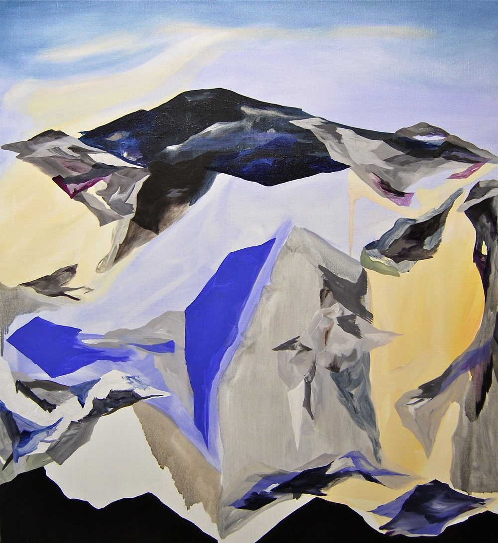 Rockridgeskyline, Oil on Canvas, 92 x 84 cm