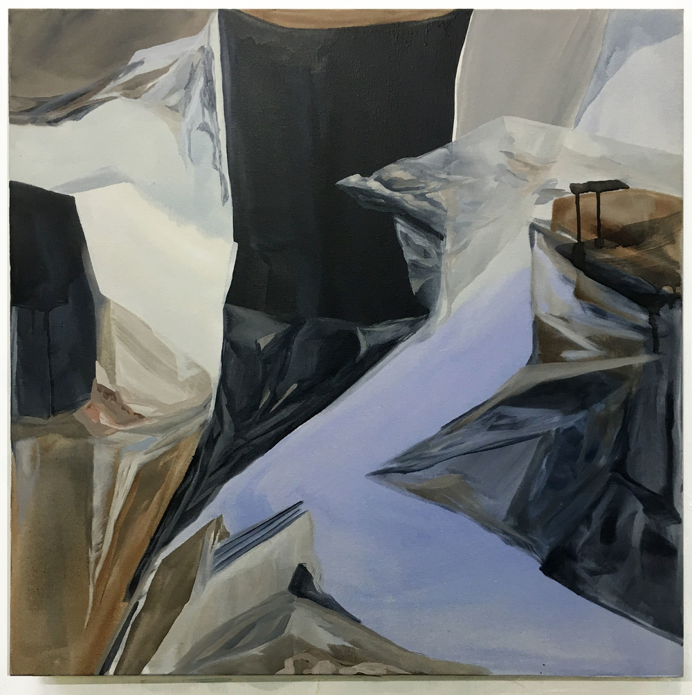 Untitled (Blue), Oil on Canvas, 76 x 71 cm,