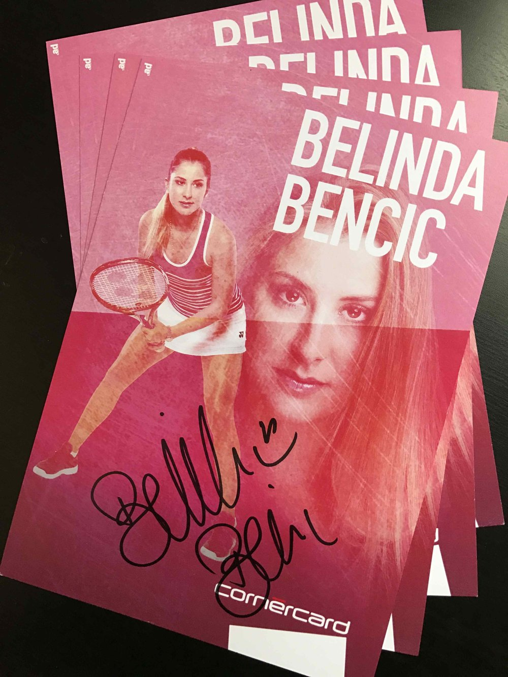 autograph card for BELINDA BENCIC