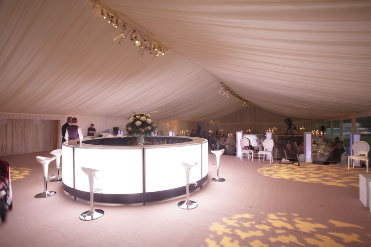 A glow bar is perfect to serve cocktails from to make the night really special