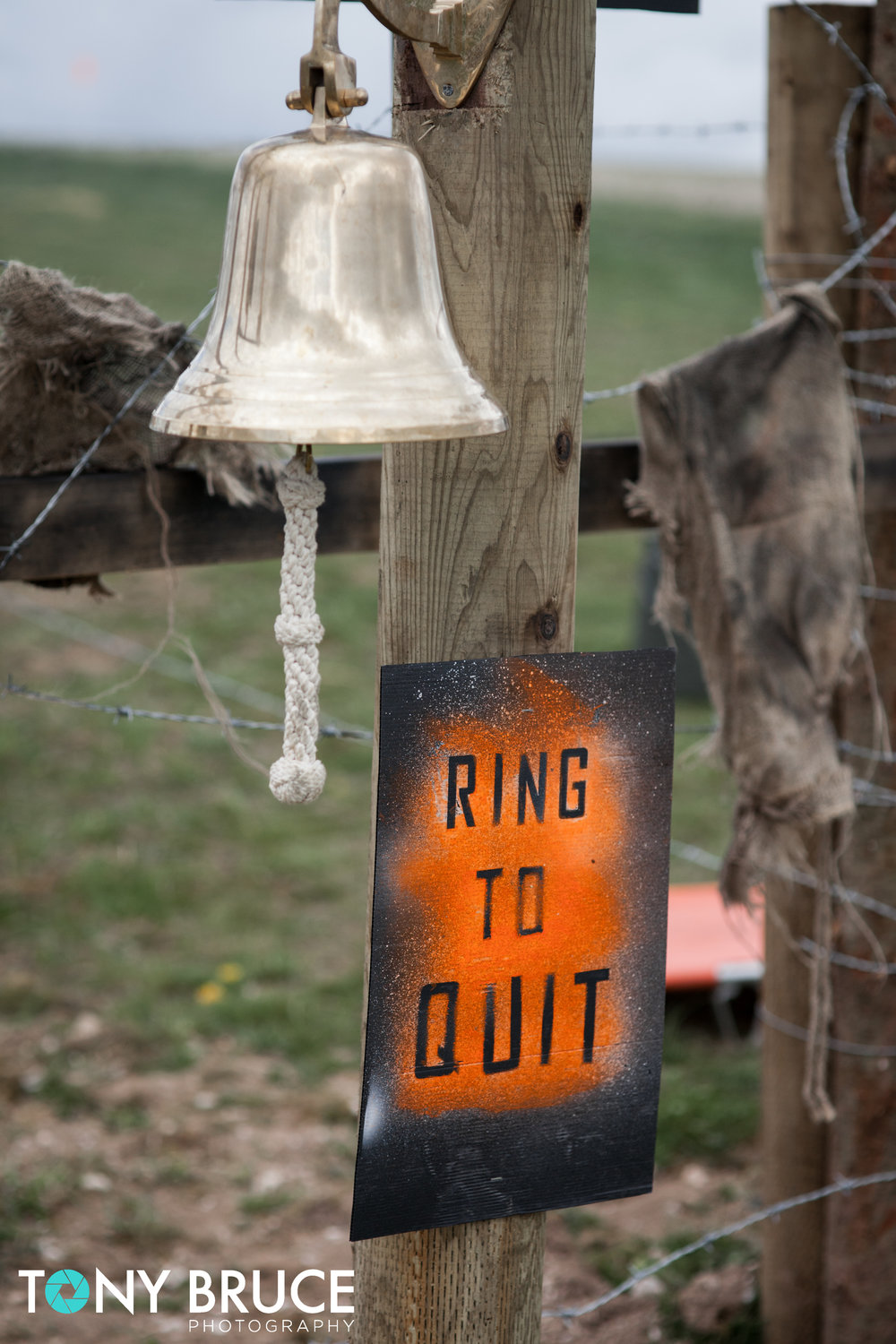 It's simple. If you want to quit, ring the bell and take your arm band off.