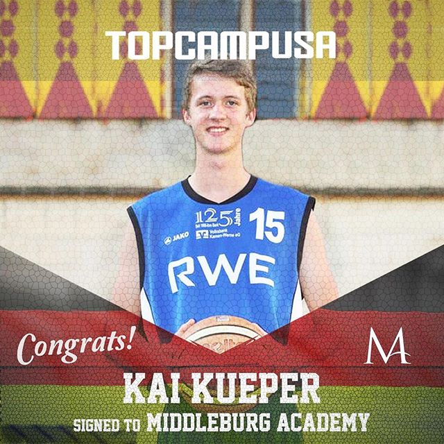We are pleased to announce that we congratulate @kai_nr.21 on signing to @middleburgacademy. We are a proud #topcampusa family. #theprocess from Werne, GER to Virginia, USA. With the support of @pfuken and @martian42 #workhardplayhard @dbb_basketball #dbb #badblankenburg #deutscherbasketballbund